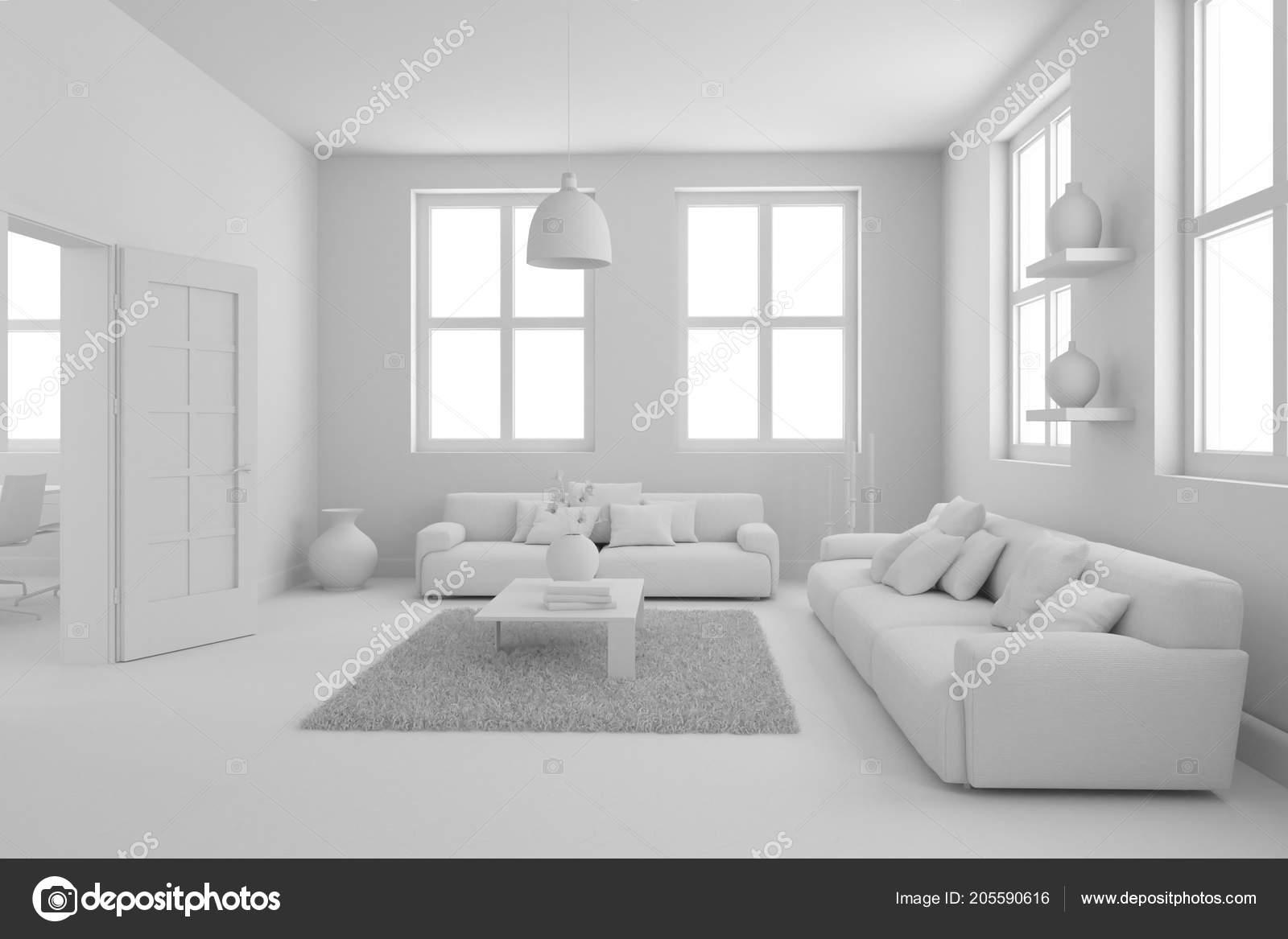 Model van modern interieur woonkamer u2014 stockfoto © virtua73 #205590616