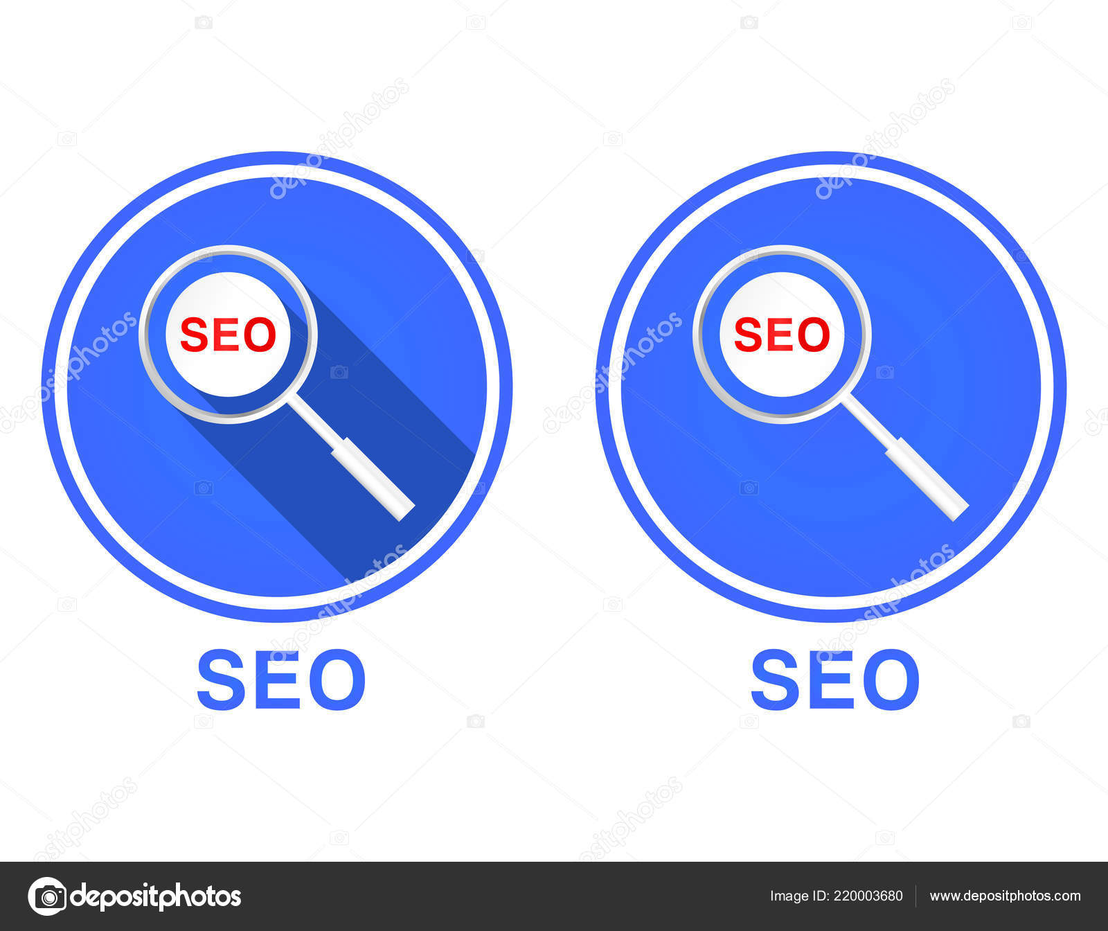 Flat Magnifying Glass Seo Icon Search Engine Optimization