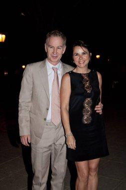NEW YORK - APRIL 21: John McEnroe and wife Patty Smyth attend the Vanity Fair party during the 8th annual Tribeca Film Festival at the State Supreme Courthouse on April 21, 2009 in New York City