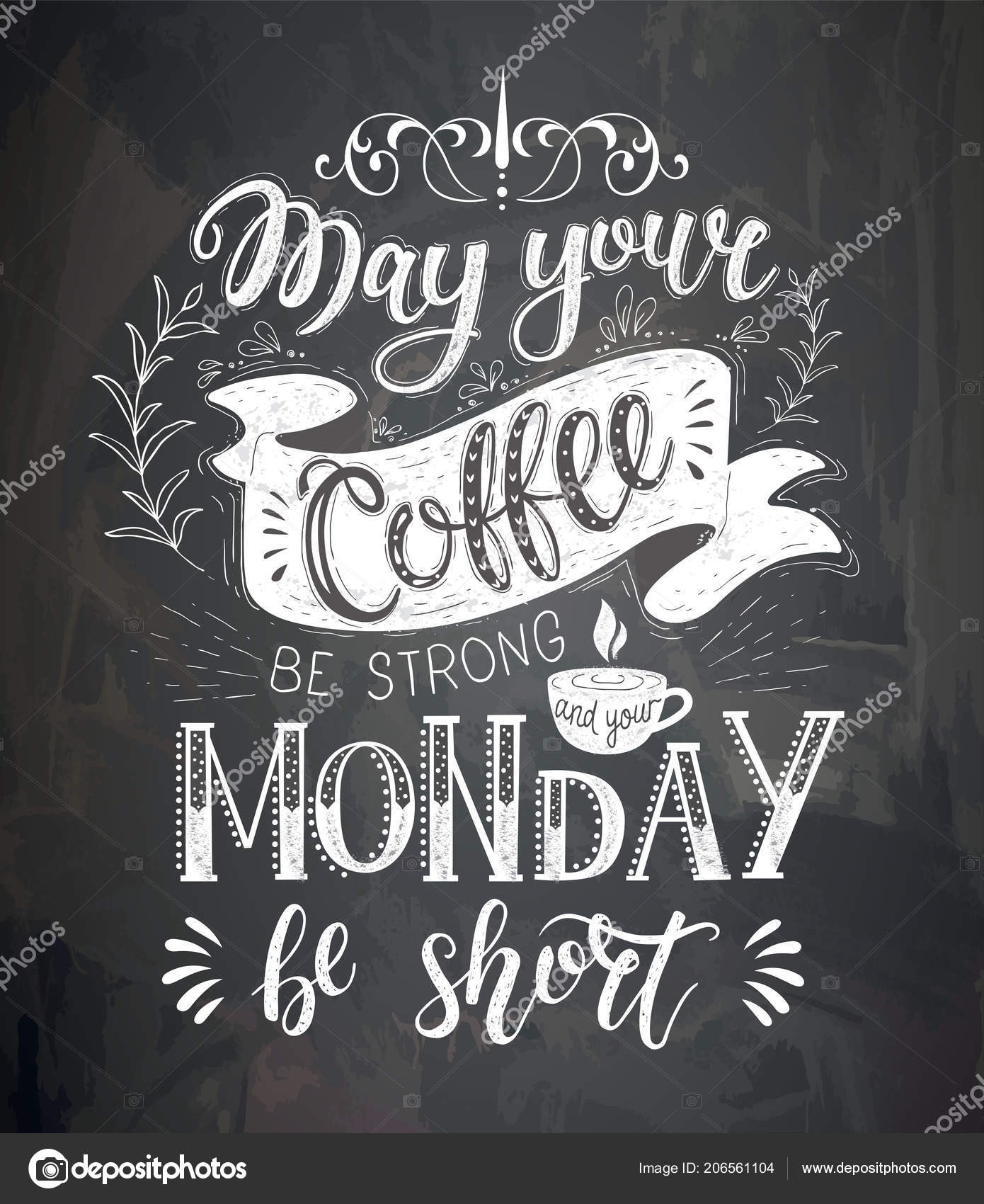 Coffee Chalkboard Quotes Coffee Quotes On The Chalk Board Stock Vector C Nuraschka 206561104