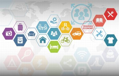 Sharing Economy Collaborative Concept Background
