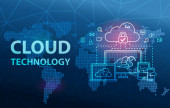 Cloud Technology Computing Network Data Storage Analytics Background