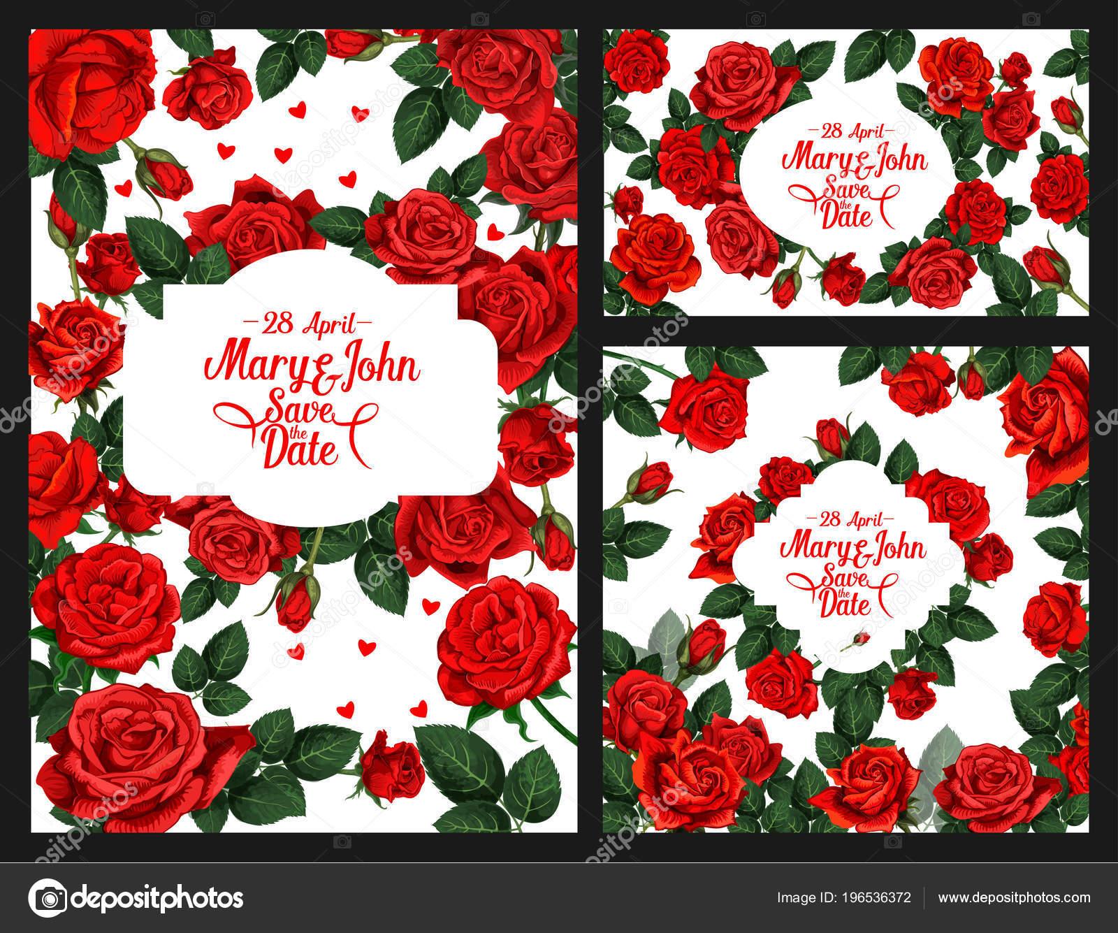 Blumen Vektor Einladung Der Save The Date Hochzeit Stockvektor