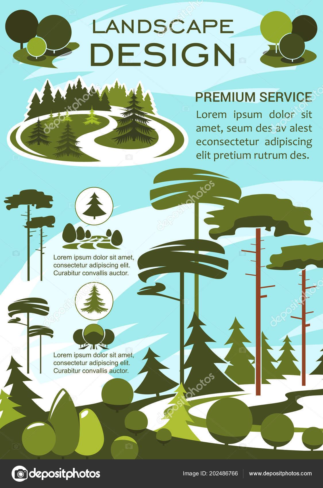 Bandera de servicio de diseño y jardinería de paisaje — Vector de ...