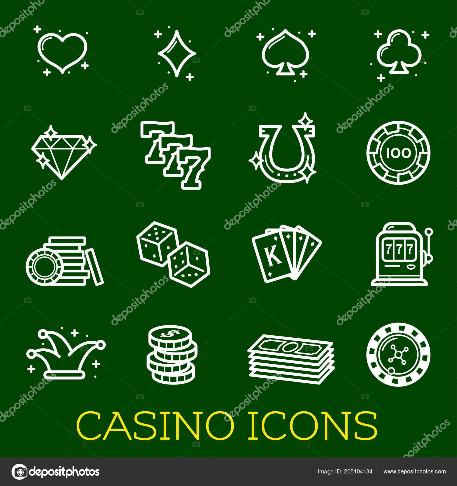 b4350c18d0 Casinò gioco d'azzardo e poker linea sottile icone Vector jackpot e bingo  simboli di slot machine per online casino internet, giocare a carte e  monete dei ...