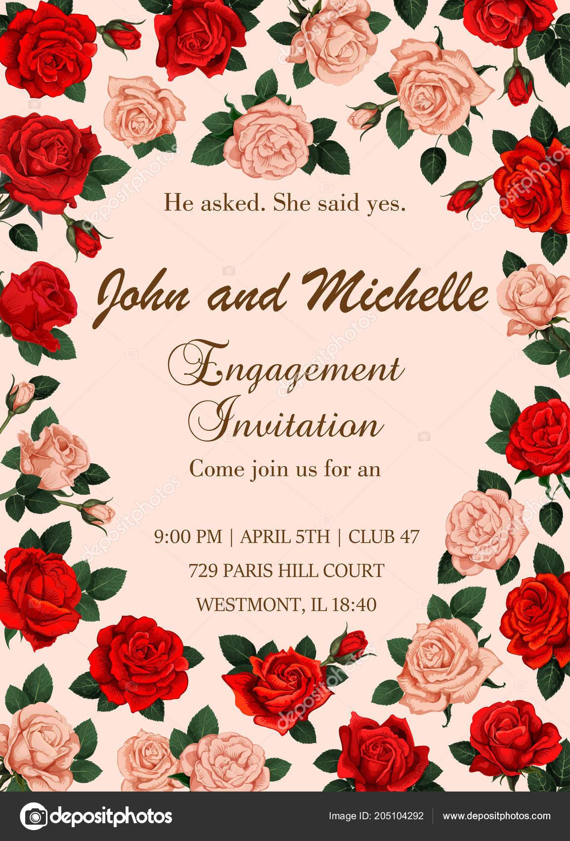 Blumen Vektor Einladung Oder Save The Date Hochzeit Stockvektor