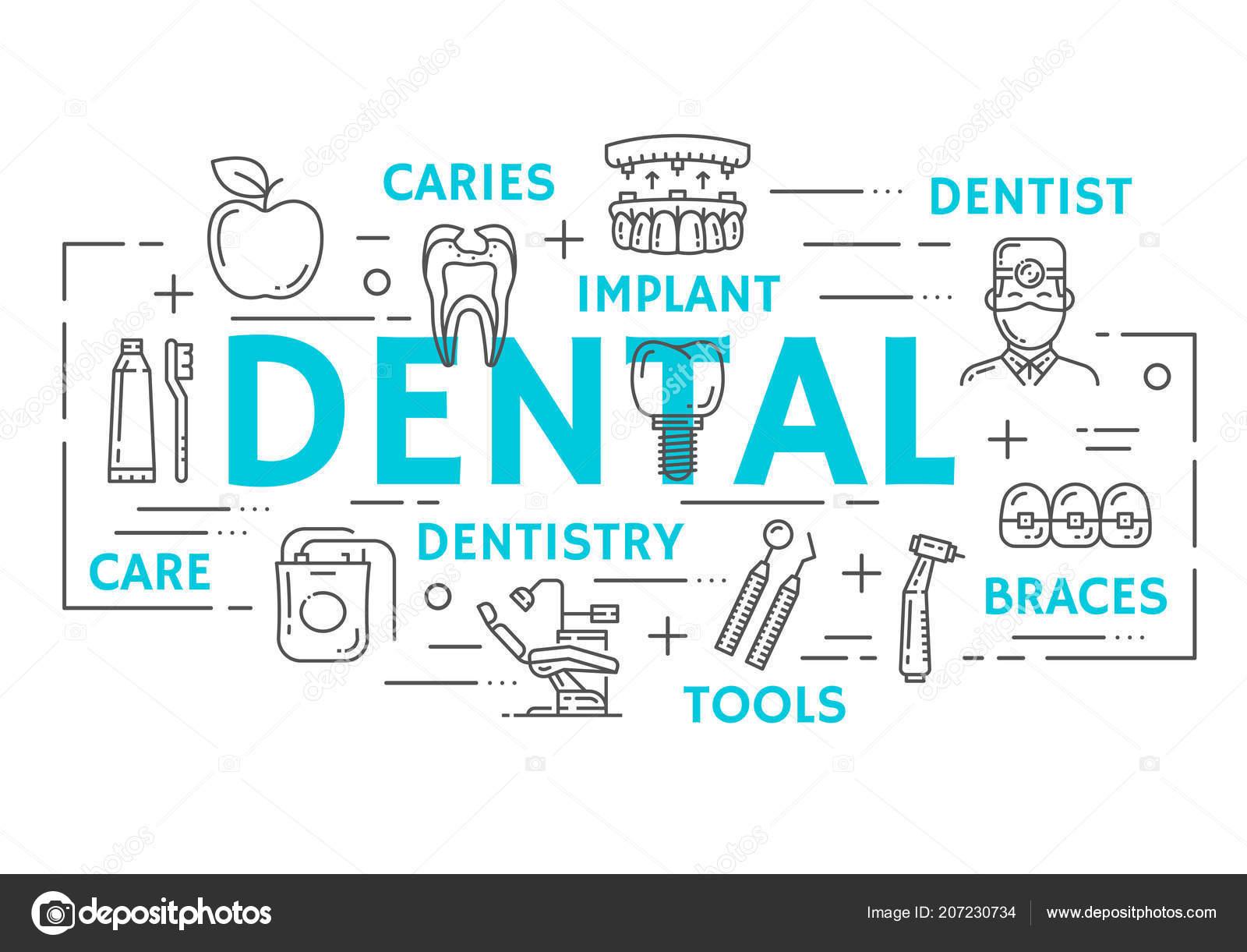 7cdc70dc3 Bandeira de medicina Odontologia do ícone dental linha fina ...