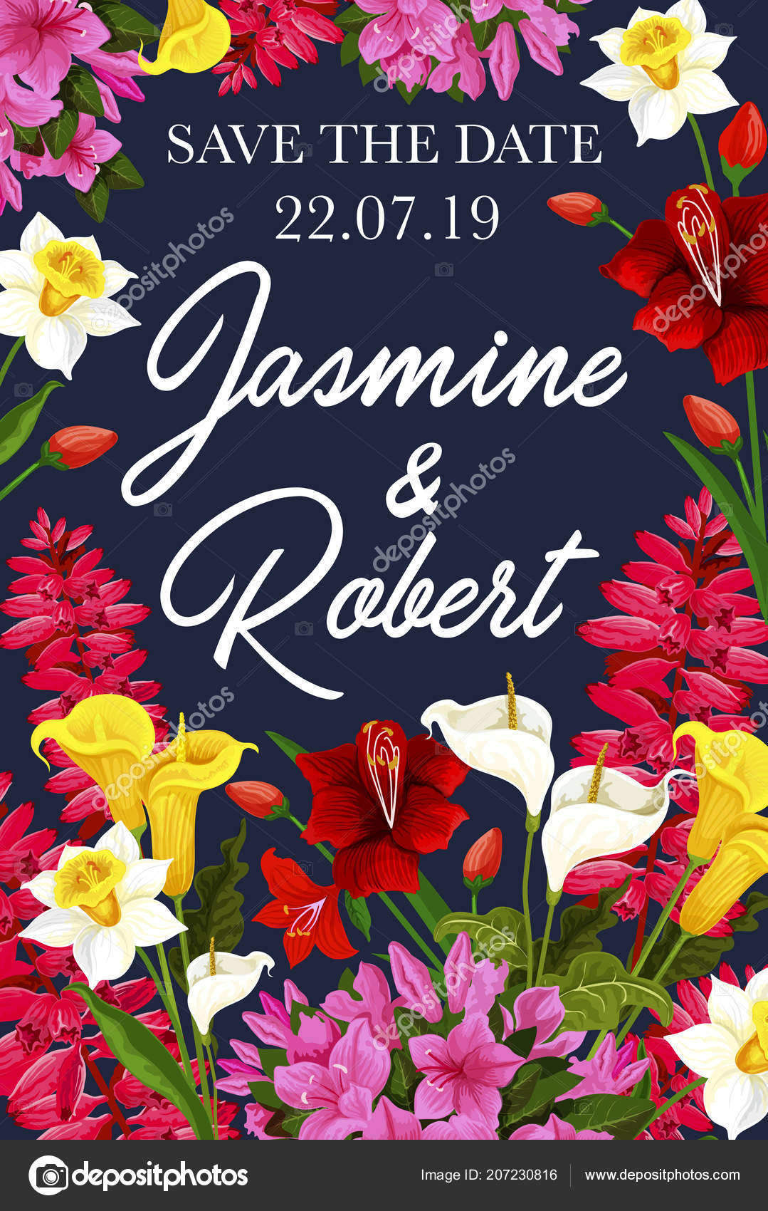 Wedding Save The Date Banner For Invitation Card Stock Vector