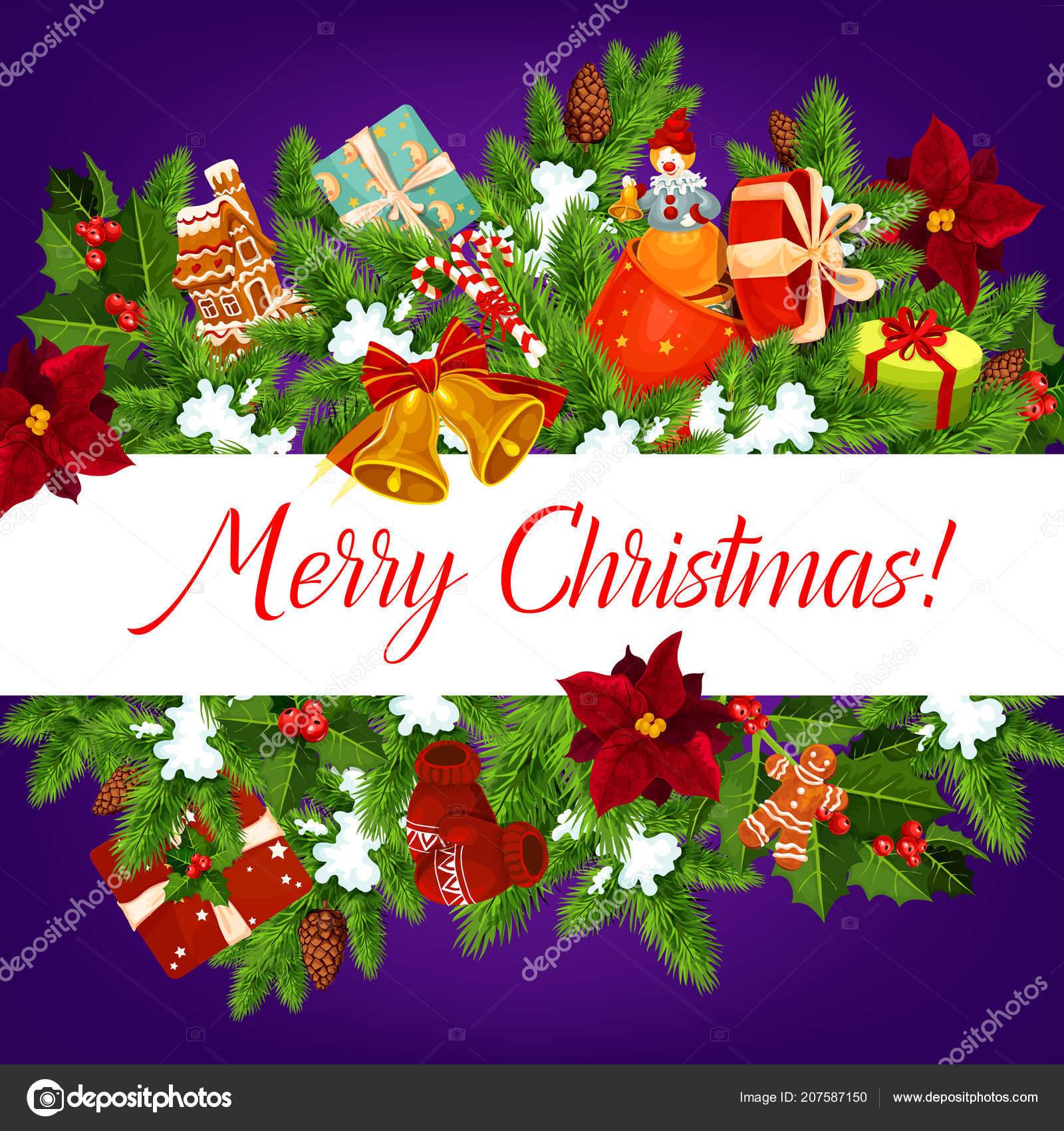 Foto Di Natale Con Auguri.Vettore Banner Auguri Di Natale Banner Di Ghirlanda Di