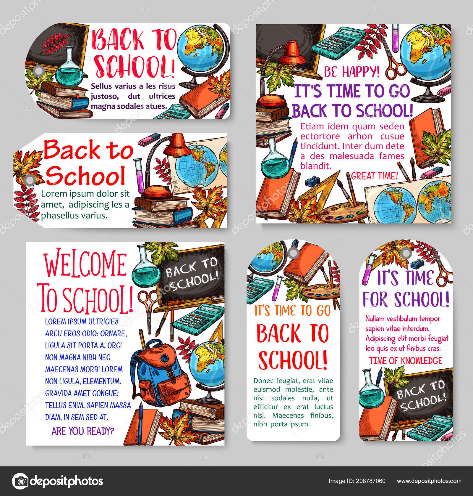Back to school tag and label for sale design — Stock Vector