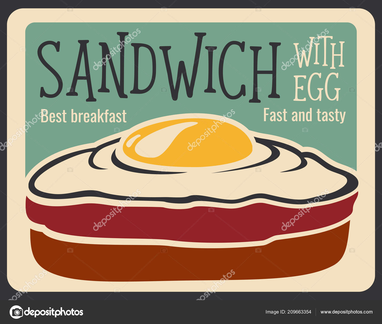 Fast food sandwich vector retro poster — Stock Vector © Seamartini ...