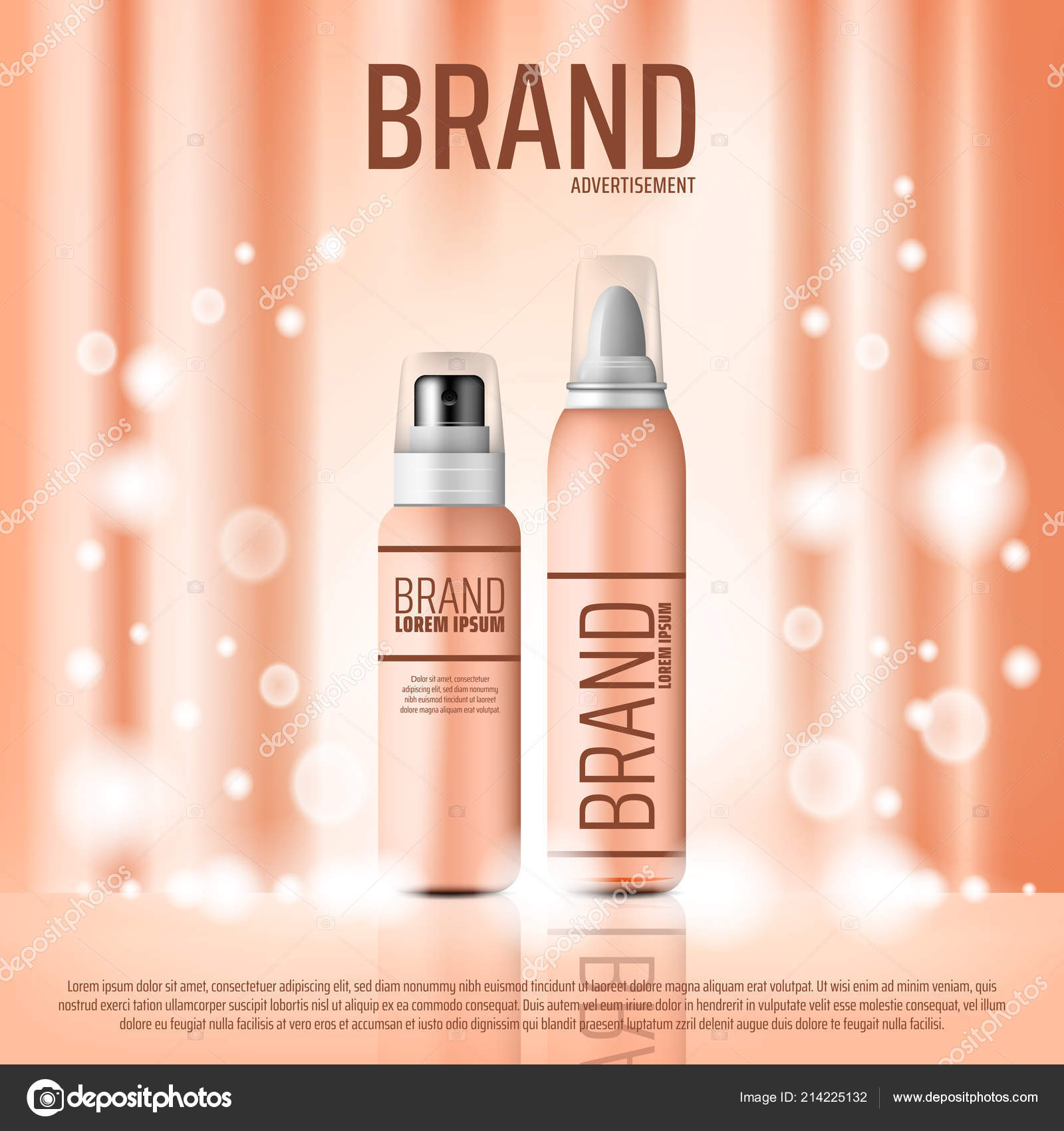 Cosmetic Brand Banner With Skin Care Bottle Stock Vector C Seamartini 214225132