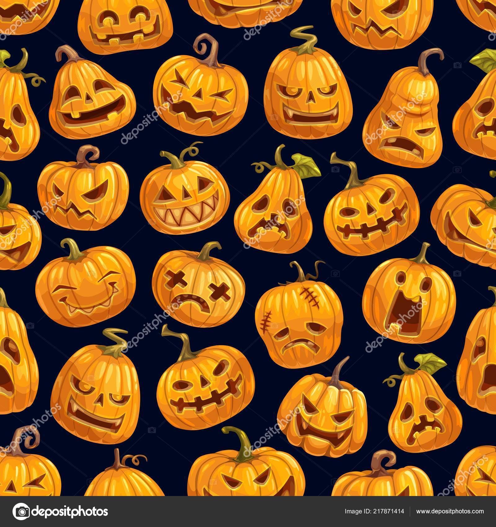 Modèle de citrouille Halloween, conception de cartes de