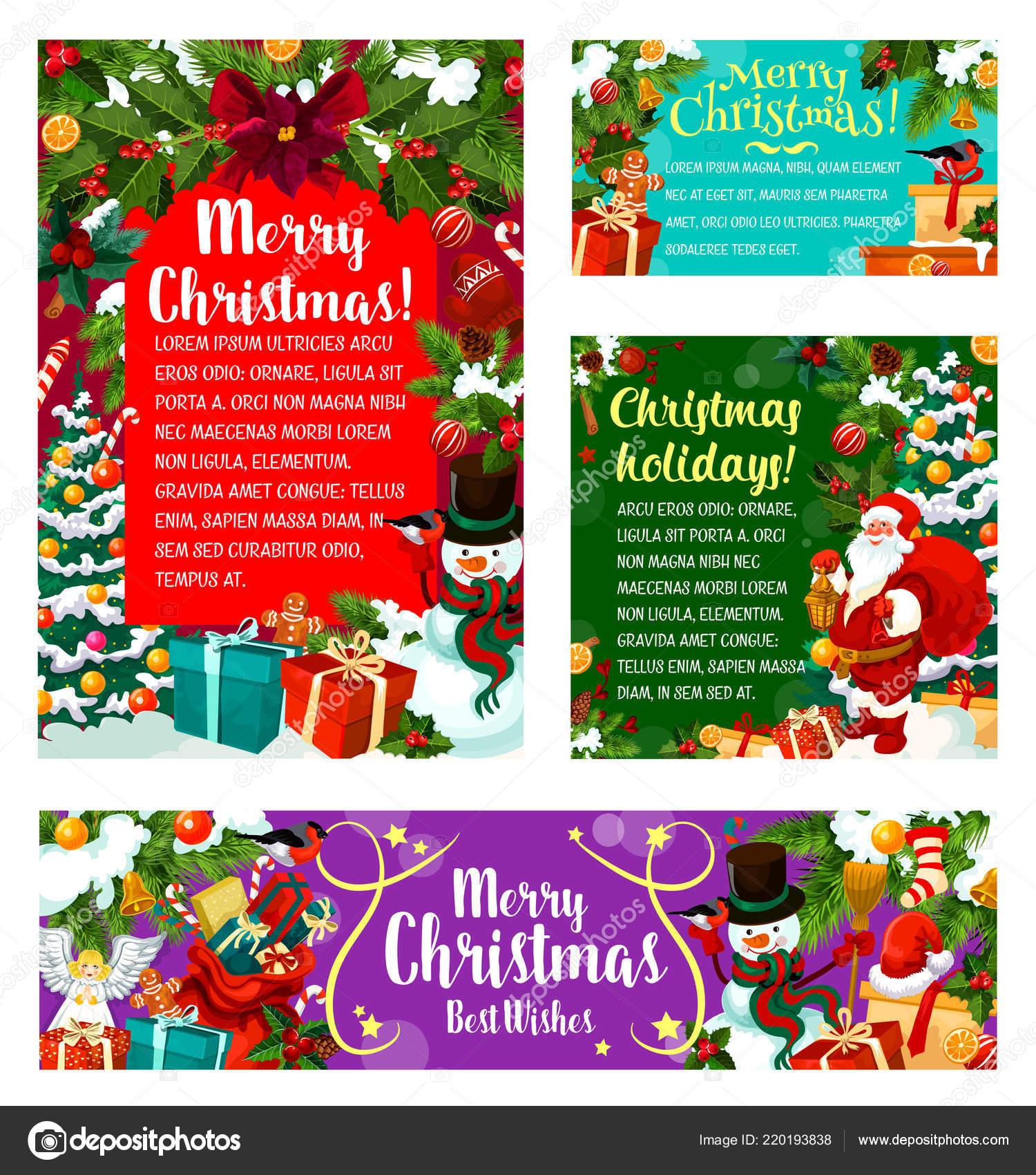 Fiesta De Navidad Vector Invitaciones Vector De Stock