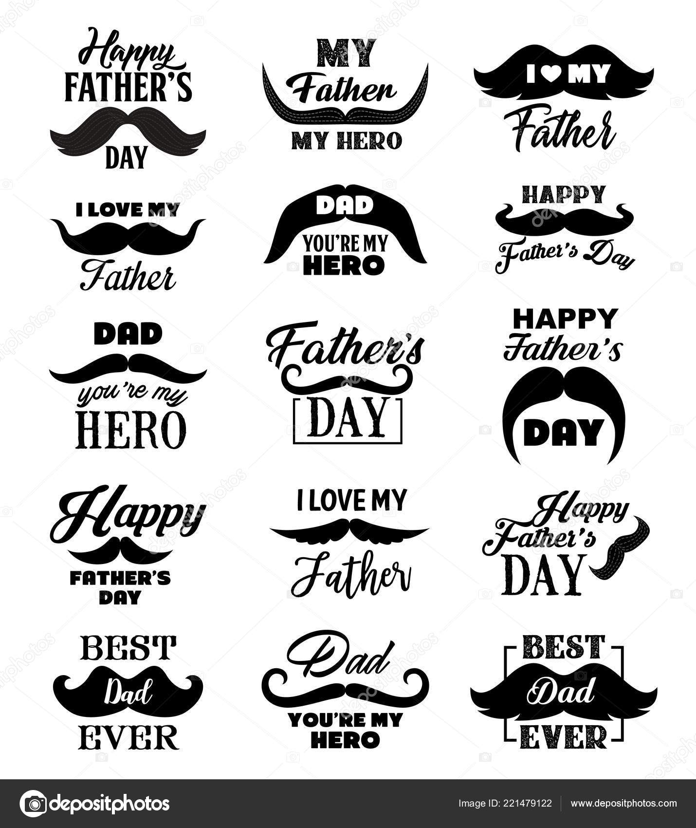 Father Day Lettering Quotes Vector Stock Vector Seamartini