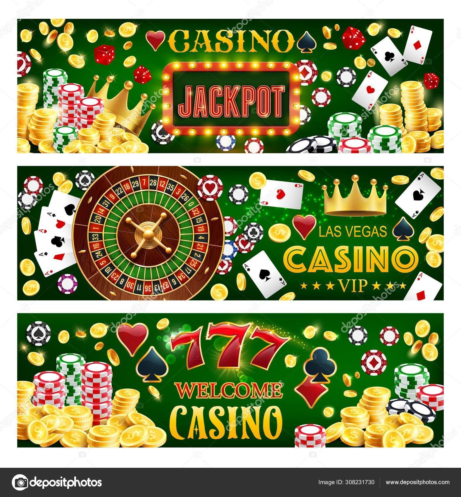 Casino poker big win, wheel of fortune, jackpot - Stock