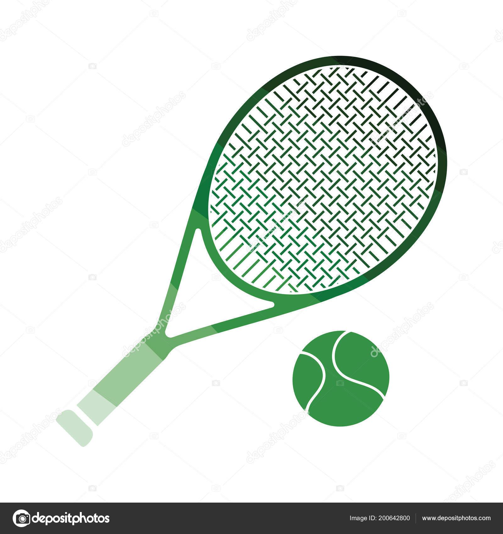 Icono Cohete Bola Tenis Diseo Planos Color Ilustracin Vector Tennis Archivo Imgenes Vectoriales