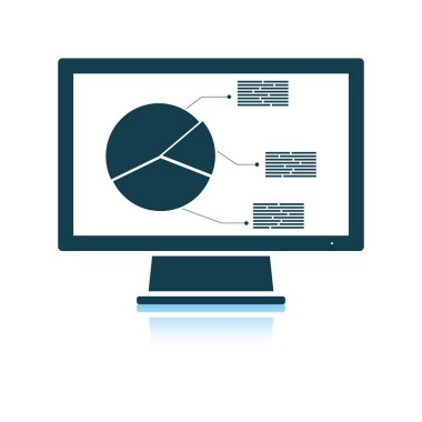 Monitor with analytics diagram icon
