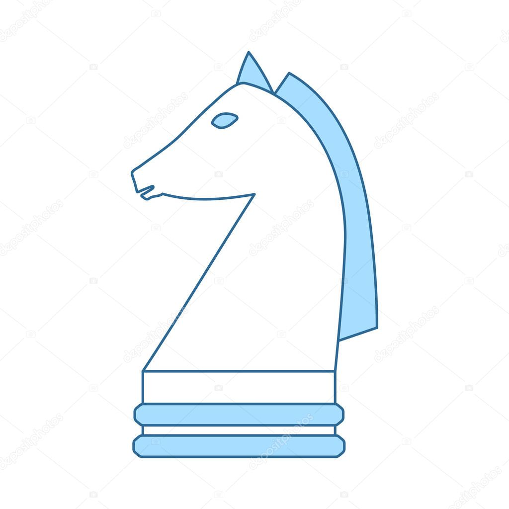 Chess Horse Icon Thin Line With Blue Fill Design Vector Illustration Premium Vector In Adobe Illustrator Ai Ai Format Encapsulated Postscript Eps Eps Format