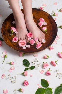 Little beautiful legs take bath