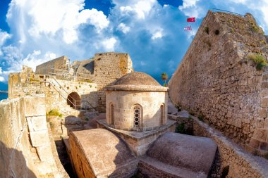12th-century Byzantine Chapel of St George at Kyrenia castle. Cyprus.