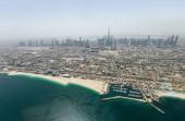 Fotografie Letecký pohled na moderní odsolování továrny v Dubaji, Spojené arabské emiráty
