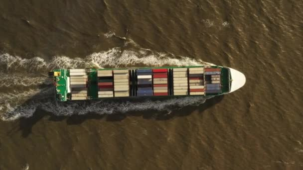 Container ship in export and import. International shipping cargo.