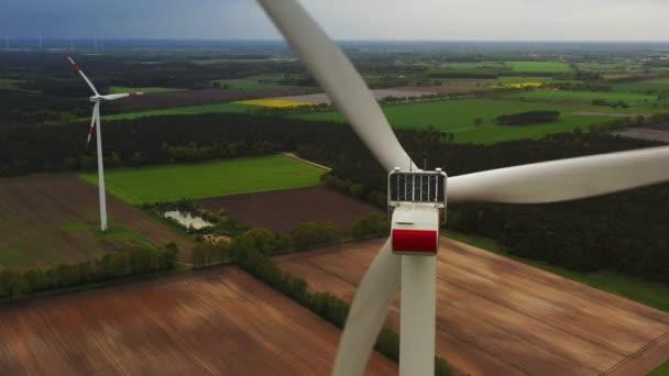 Wind power turbines - Sustainable, renewable energy concept.