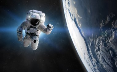 Concept of conquering the universe by the human race. Elements of this image furnished by NASA