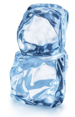 Macro shot of ice cubes. File contains clipping path.