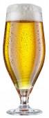 Üveg sör izolált fehér alapon.