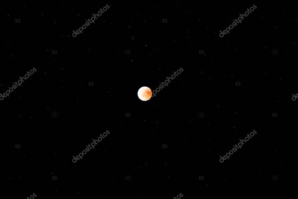 Planet Moon in Night Sky