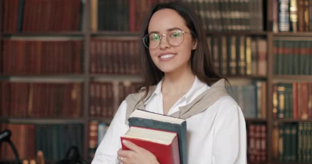 Portrait of Smiling Girl in Library