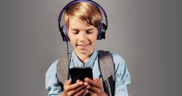 Boy Listening to Music Isolated