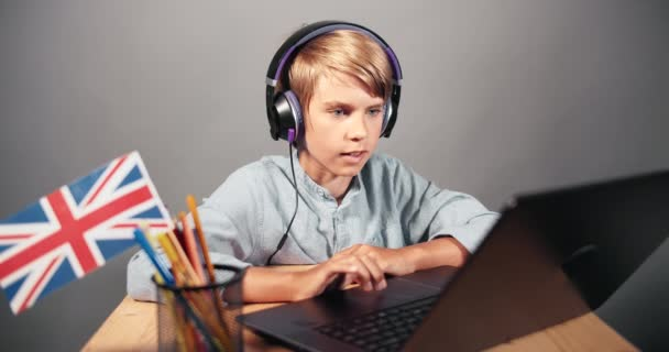 Boy on Online English Lesson