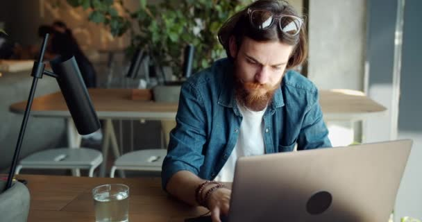 Male Working on Laptop