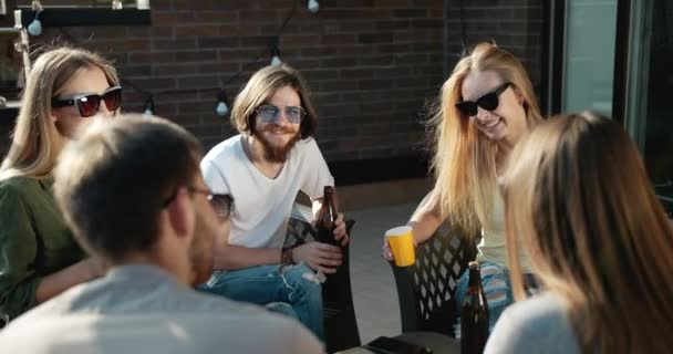 Friends Relaxing and Drinking Beer