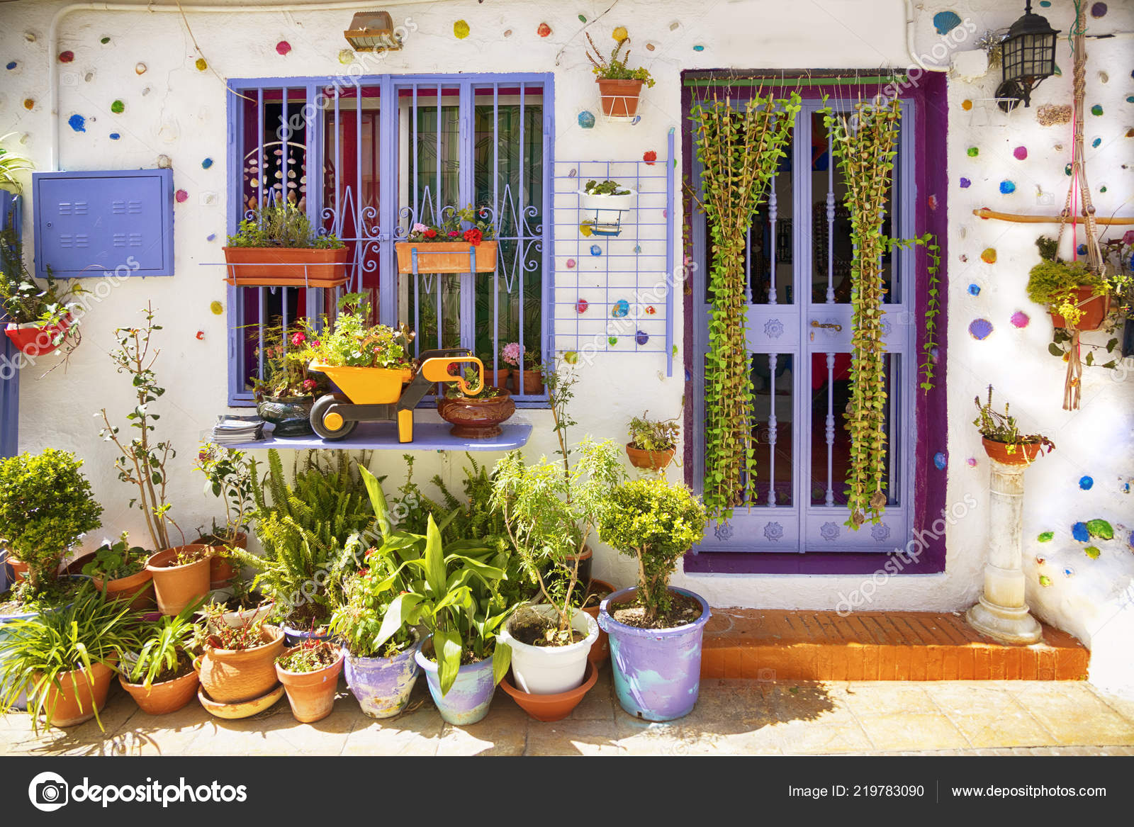 Spanish Village Spring Season Stock Photo C Araraadt 219783090