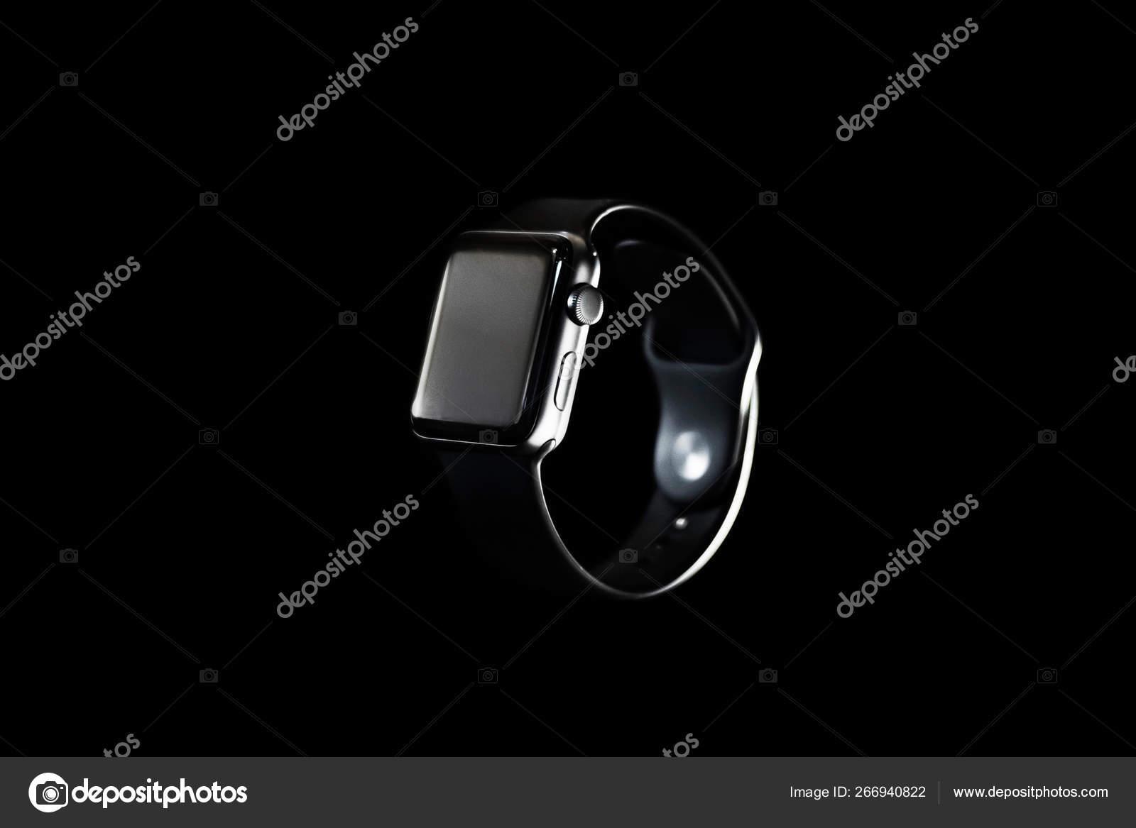 Apple Watch Black Background Hover Air Stock Photo C Devetyarov 266940822