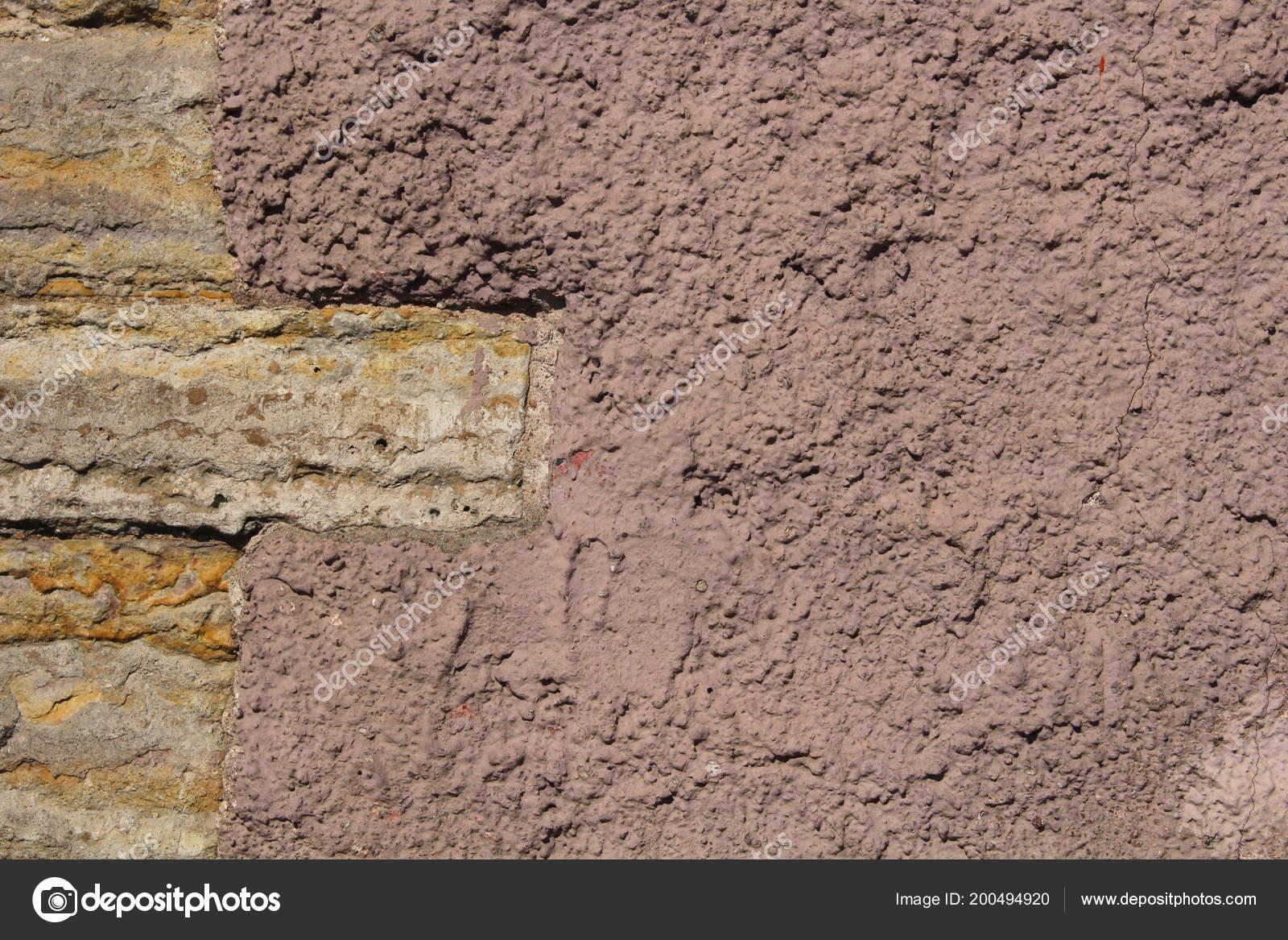 Stenen Muur Verven : Oude stenen muur bedekt met verf u stockfoto grynold