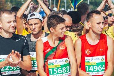 September 9, 2018 Minsk Belarus Half Marathon Minsk 2018 Running in the city