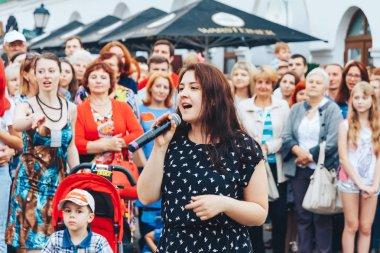July 21, 2018, Minsk,Belarus Street festivities in the city