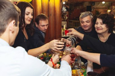 December 1, 2018 Minsk Belarus Wedding Day Ceremony in Country Style Restaurant