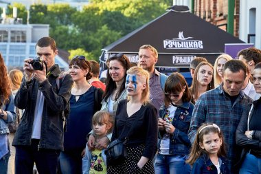 June 1, 2019 Festivities in the city on the day of Swedish culture There are a lot of spectators at a street concert