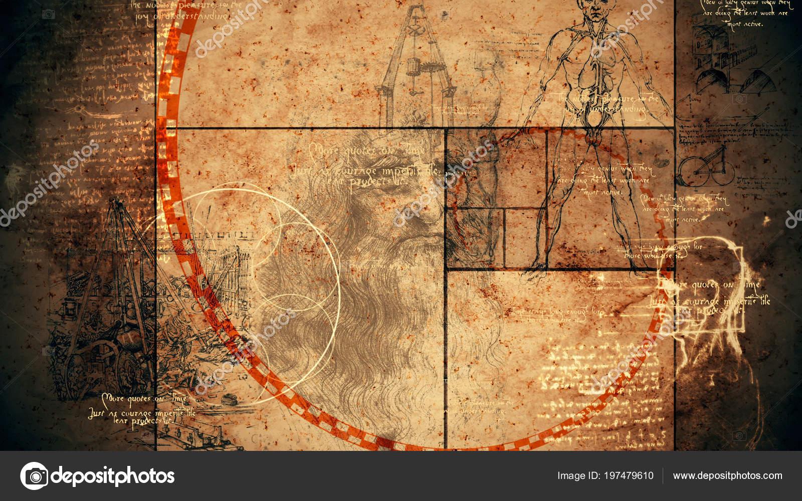 Una Impresionante Representación Del Código Vinci Con Retrato Del ...
