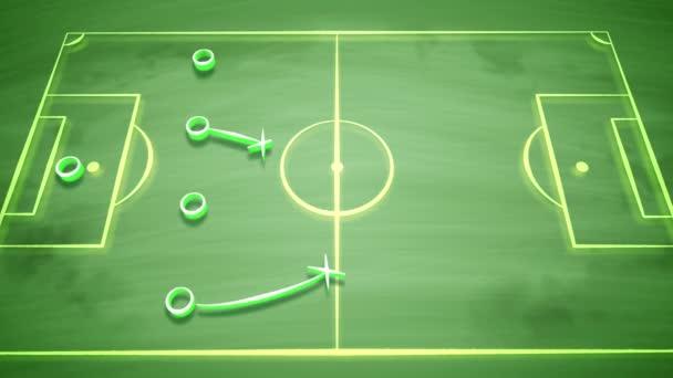 3D vykreslování fotbalové hřiště pokryté nuly, kříže a šipka