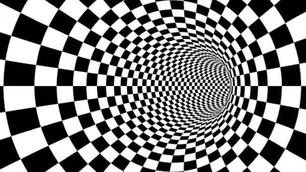 Optikai fekete-fehér folyosón illúzió