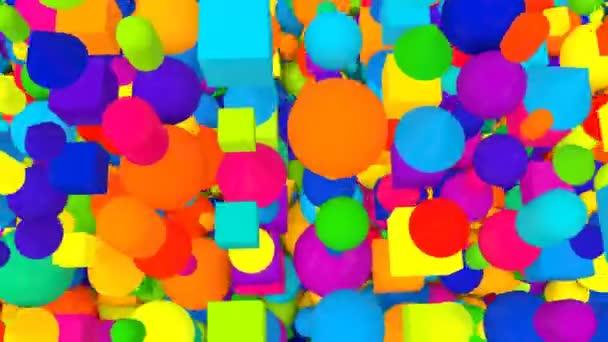 Multicolored Random Falling Balls Backdrop