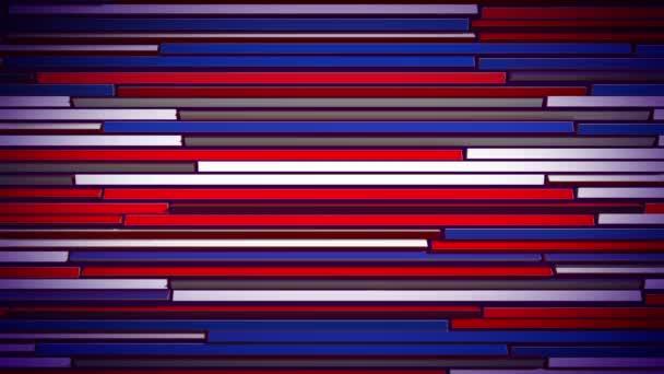 Egy lenyűgöző 3d visszaadás-ból színes vízszintes árnyékolók, lassan mozgó, és a színek, vonalak módosítása. Piros, kék, lila és fehér fom változnak. A vakok néz ki, vidám és optimista.