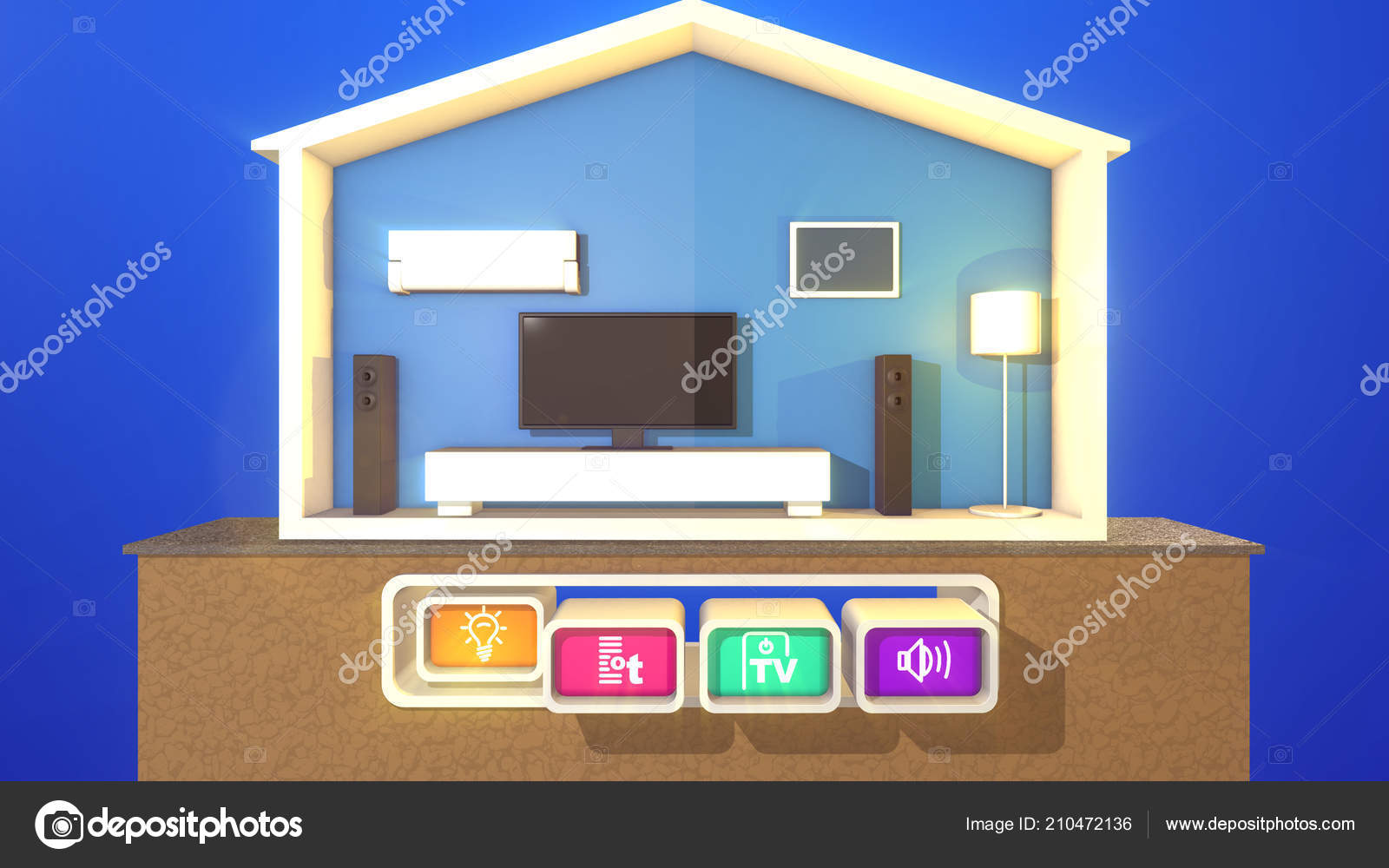 Smart Home One Pressed Button Meaning